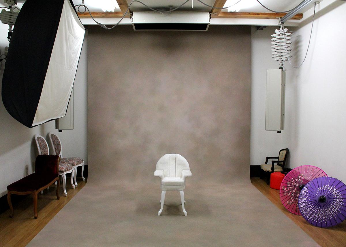 ひかり写真のスタジオ風景